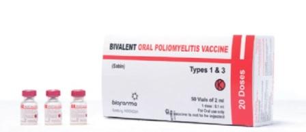 Vaksin Poliomyelitis Oral Bivalen Tipe 1 & 3 Bio Farma