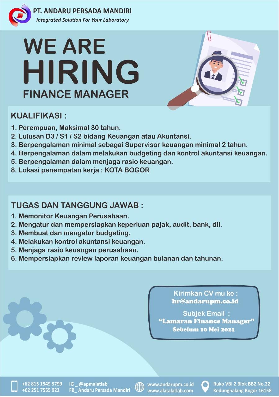 lowongan-kerja-bogor-finance-manager